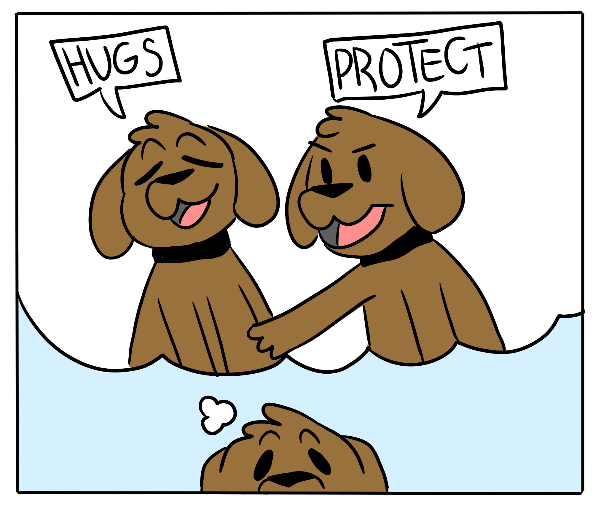 3 - Arya and Robbin Hugs vs Protect